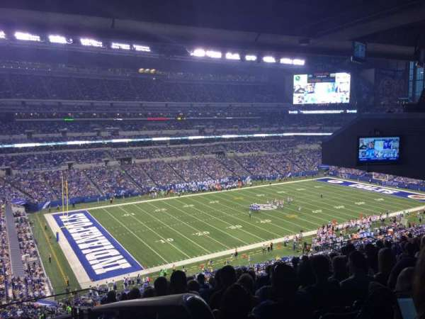 Lucas Oil Stadium, section: 419, row: 15, seat: 1-4