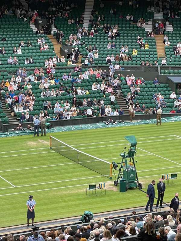 Wimbledon, Centre Court, section: 505, row: X, seat: 109