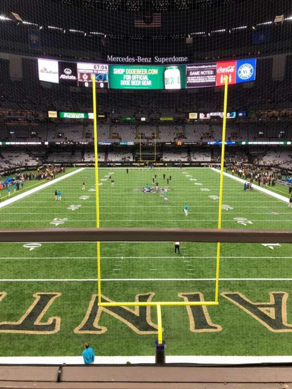 Mercedes-Benz Superdome, section: 201, row: 2, seat: 1