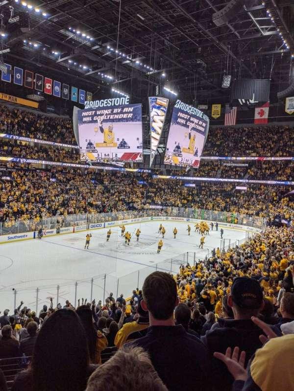 Bridgestone Arena, section: 113, row: K, seat: 9