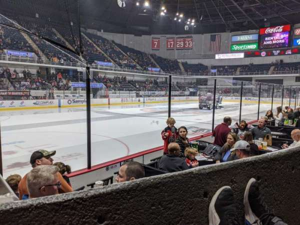 Propst Arena, section: 209, row: A, seat: 10