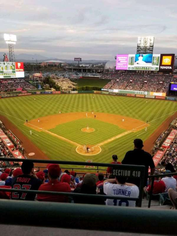 Angel Stadium, section: V520, row: A, seat: 11