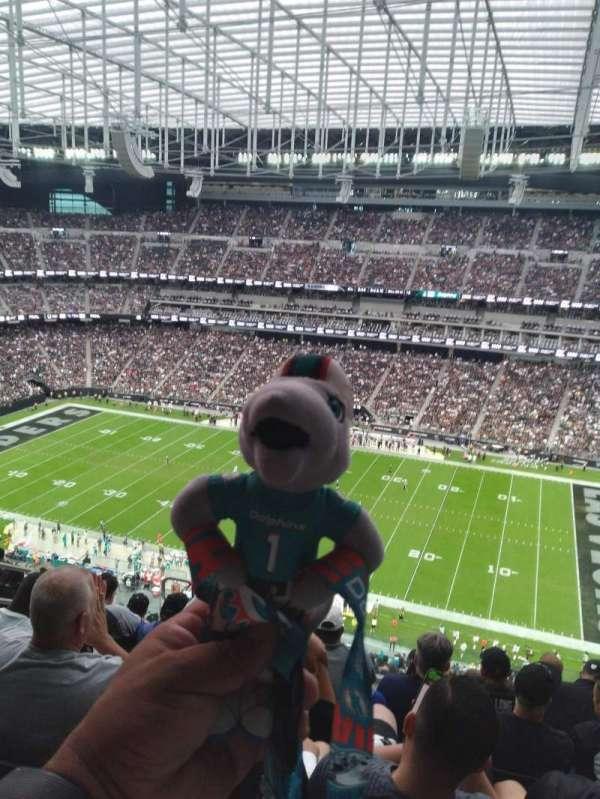 Allegiant Stadium, section: 409, row: 8, seat: 20