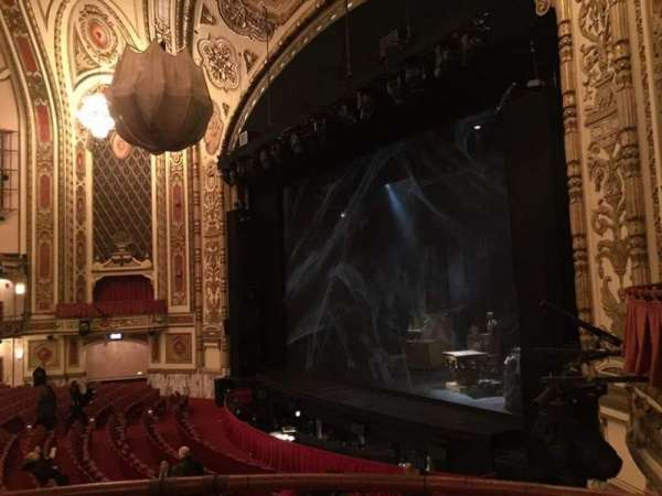Cadillac Palace Theater, section: Dress Circle R, row: BB, seat: 8