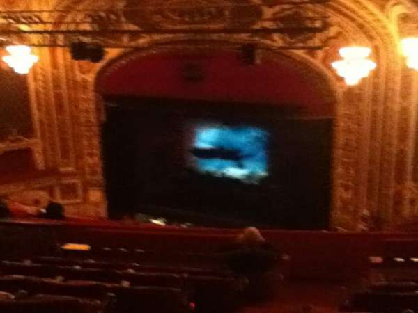 Cadillac Palace Theater, section: Balcony FR, row: R, seat: 30