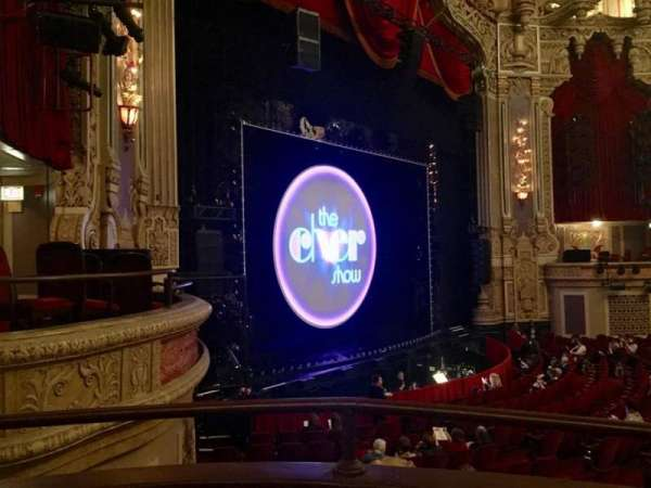 Oriental Theatre, section: Dress Circle L, row: AA, seat: 7