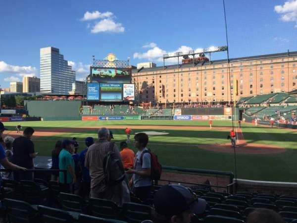Oriole Park at Camden Yards, section: 46, row: 10, seat: 1