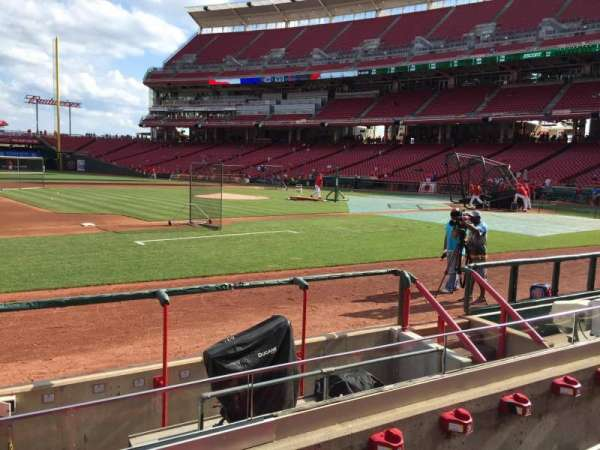 Great American Ball Park, section: 115, row: H, seat: 14