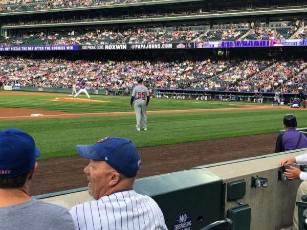 Coors Field, section: 141, row: 3, seat: 5