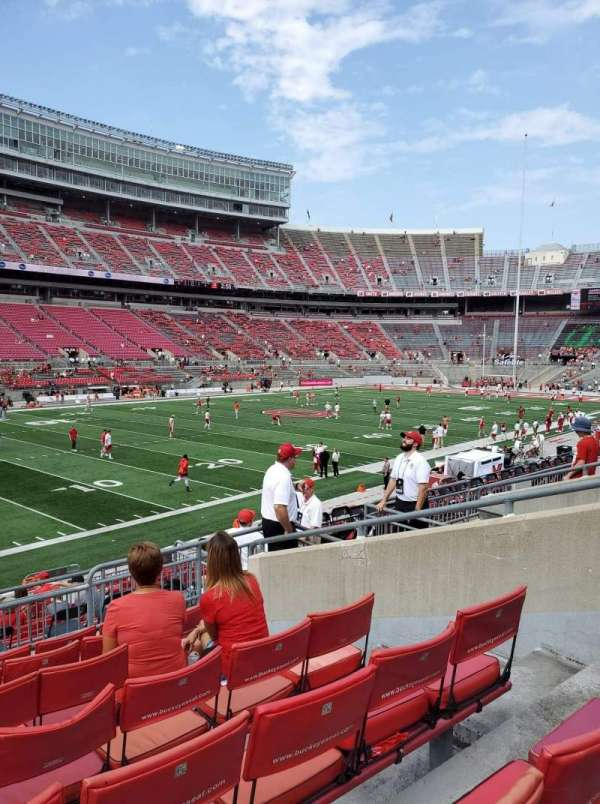Ohio Stadium, section: 28A, row: 6, seat: 5