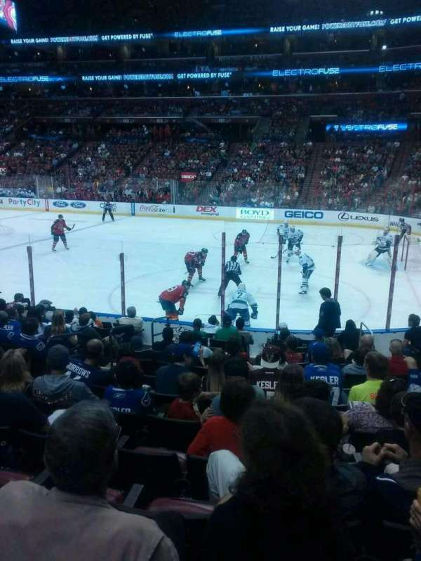 BB&T Center, section: 114, row: 8, seat: 7