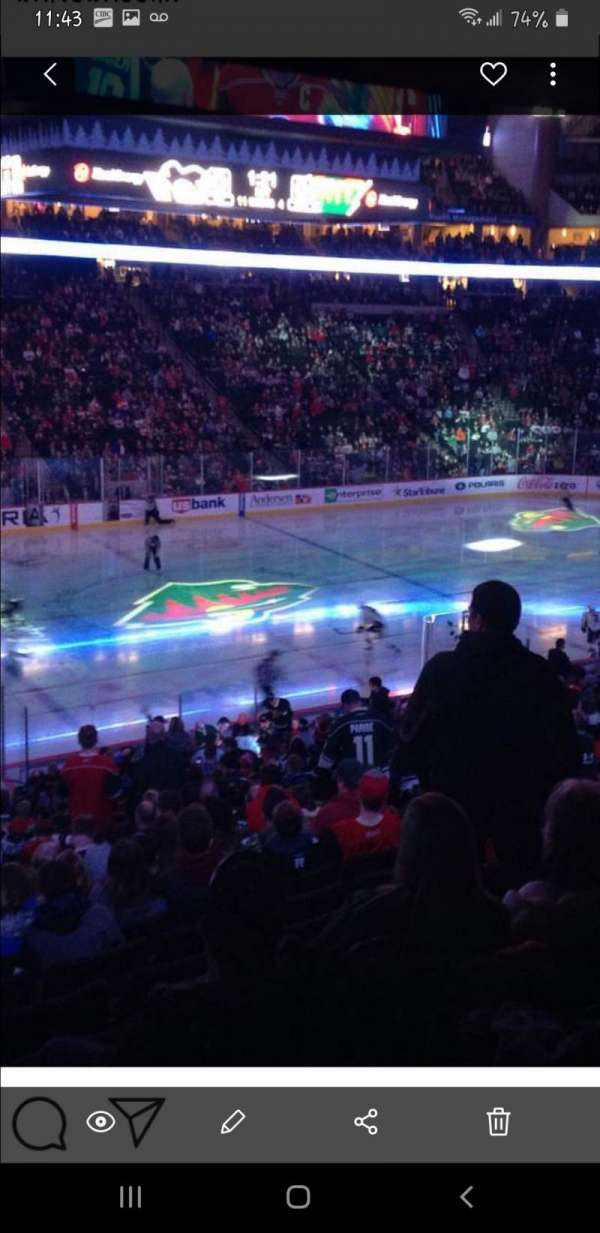 Xcel Energy Center, section: 118, row: Sro