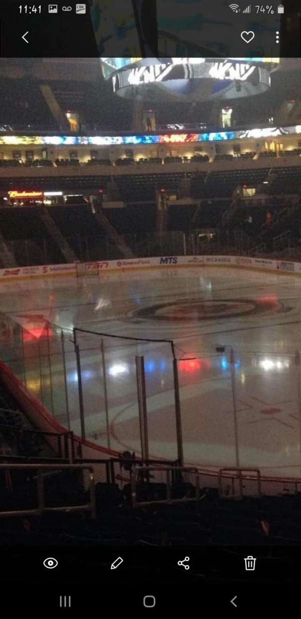 Bell MTS Place, section: 115, row: 20
