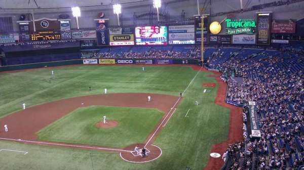 Tropicana Field, section: 303, row: M, seat: 4