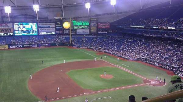 Tropicana Field, section: 315, row: h, seat: 18