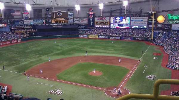 Tropicana Field, section: 305, row: N, seat: 18
