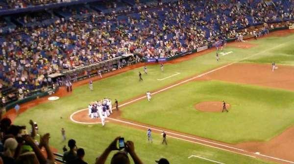 Tropicana Field, section: 316, row: J, seat: 18