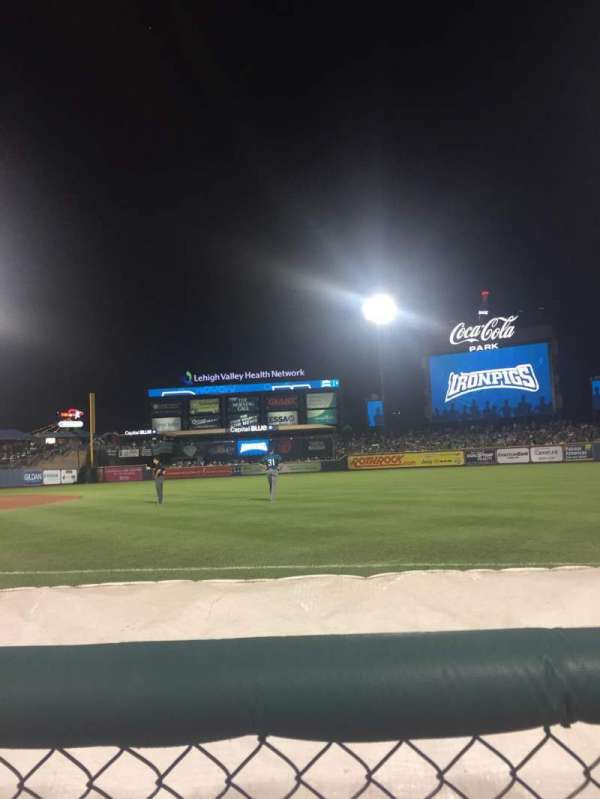 Coca-Cola Park, section: 104, row: 1, seat: 13
