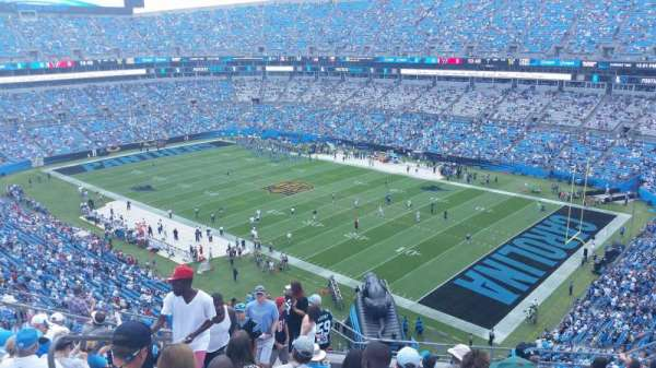 Bank of America Stadium, section: 508, row: 8, seat: 16