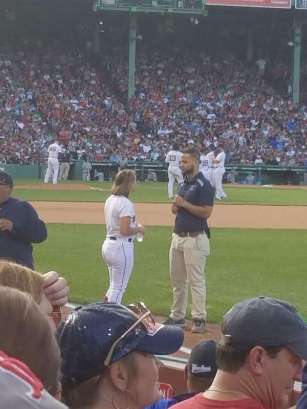 Fenway Park, section: Right Field Box 7, row: C, seat: 5, 6