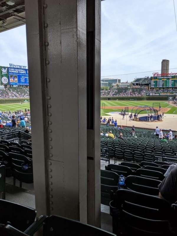 Wrigley Field, section: 215, row: 8, seat: 3