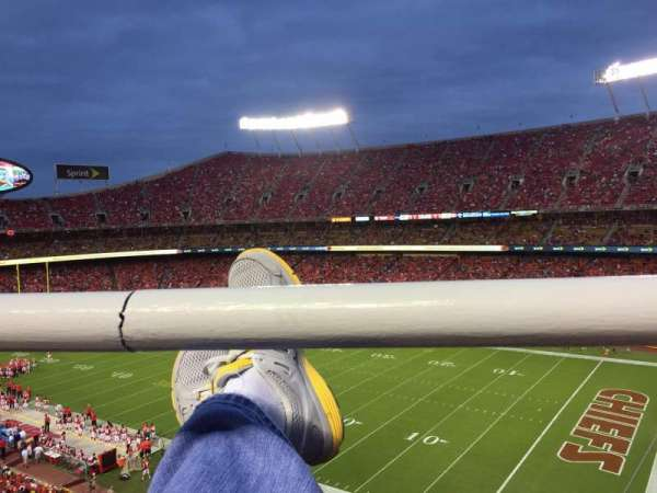 Arrowhead Stadium, section: 319, row: 1, seat: 4