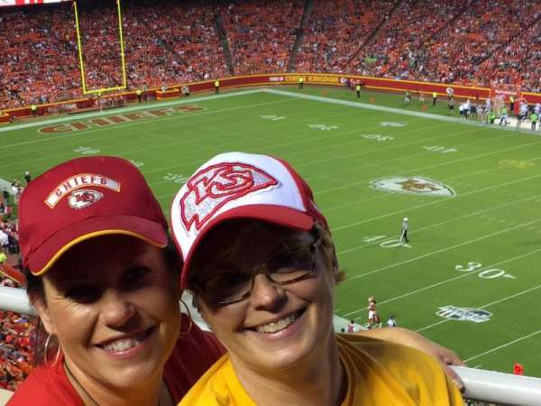 Arrowhead Stadium, section: 319, row: 1, seat: 4,5
