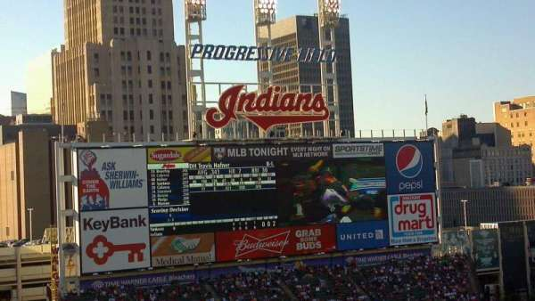Progressive Field, section: 558, row: K, seat: 4