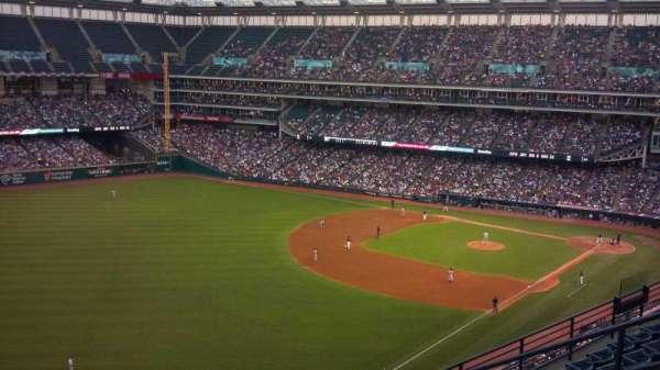 Progressive Field, section: 577, row: K, seat: 4