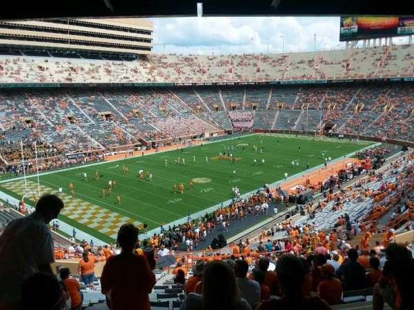 Neyland Stadium, section: X4, row: 50, seat: 30,29,28,27