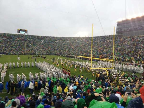 Notre Dame Stadium, section: 2, row: 25, seat: 10
