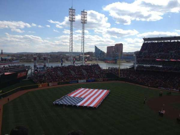 Great American Ball Park, section: 411, row: M, seat: 4
