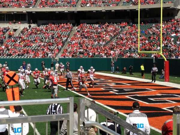 Paul Brown Stadium, section: 106, row: 2, seat: 1