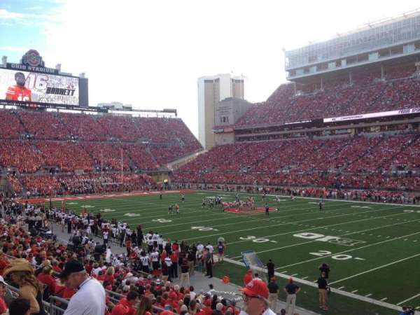 Ohio Stadium, section: 14A, row: 5, seat: 17
