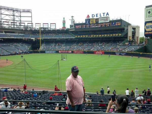 Turner Field, section: 225l, row: 3, seat: 107