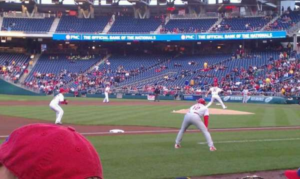 Nationals Park, section: 114, row: E, seat: 2