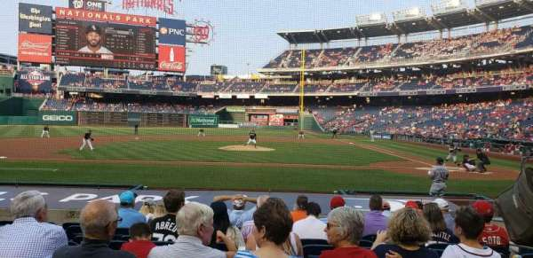 Nationals Park, section: 117, row: M, seat: 6