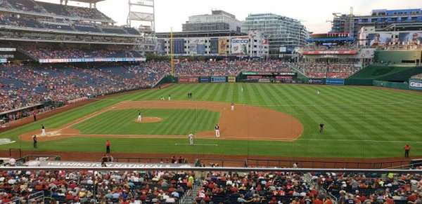 Nationals Park, section: 219, row: B, seat: 2