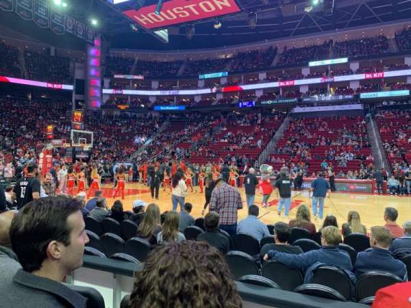 Toyota Center, section: 107, row: 3, seat: 10