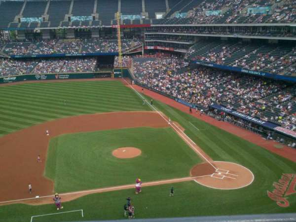 Progressive Field, section: 461, row: A, seat: 4