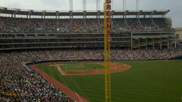 Progressive Field, section: 415, row: S, seat: 4