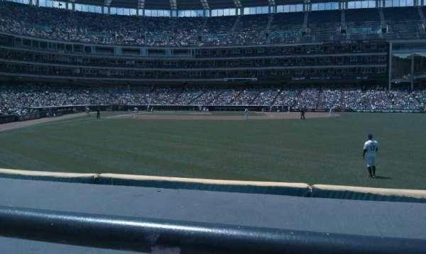 Progressive Field, section: 111, row: A, seat: 7