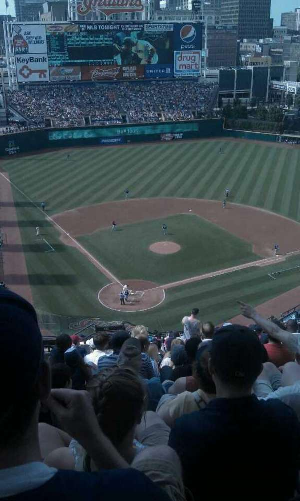 Progressive Field, section: 552, row: T, seat: 21