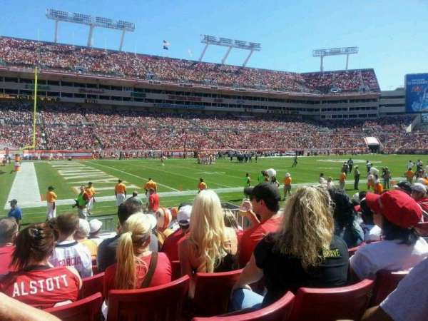 Raymond James Stadium, section: 106, row: H, seat: 15