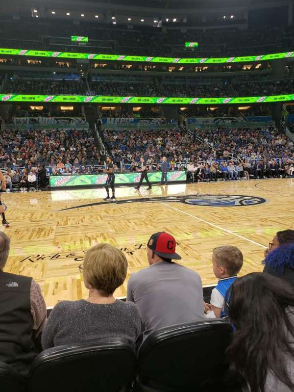 Amway Center, section: Courtside E, row: 3, seat: 43