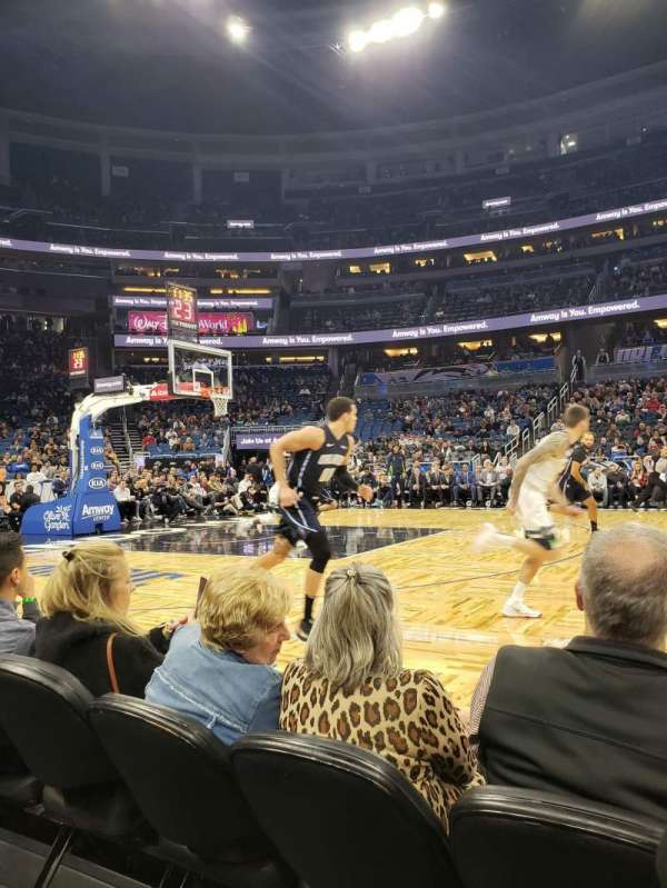 Amway Center, section: Courtside E, row: 3, seat: 42