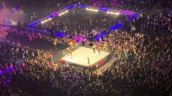 The O2 Arena, section: 407, row: U, seat: 600