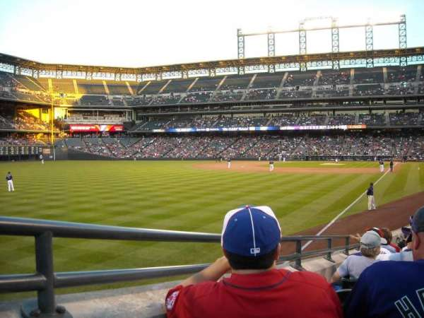 Coors Field, section: 150, row: 18, seat: 3