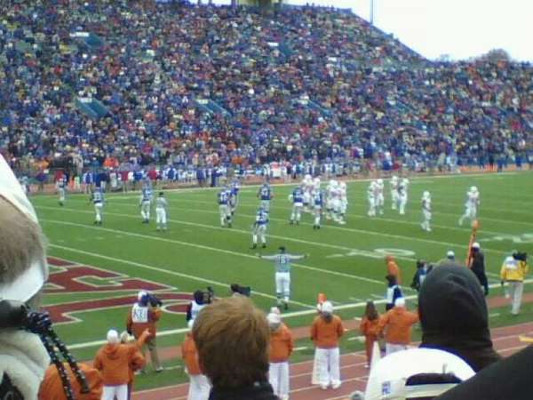 David Booth Kansas Memorial Stadium, section: 9, row: 3, seat: 5