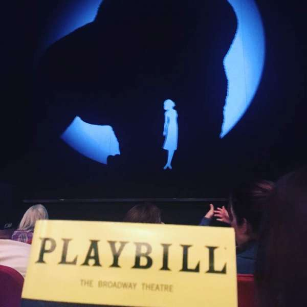 Broadway Theatre - 53rd Street, section: Orchestra, row: D, seat: 104